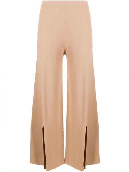 Вязаные с завышенной талией коричневые брюки D.exterior