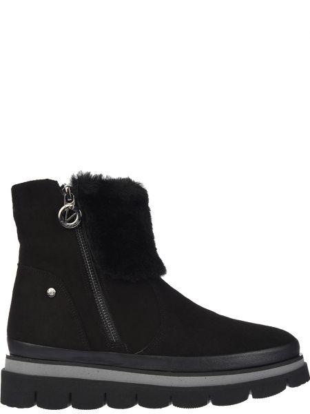 Ботинки на платформе - черные Lab-milano