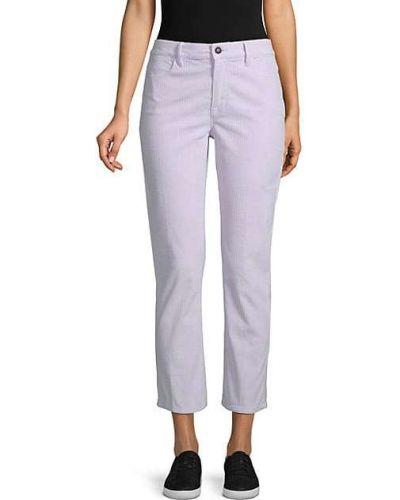 Фиолетовые прямые брюки вельветовые Frame Denim
