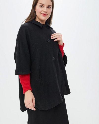 Черное пальто с капюшоном Rosa Thea