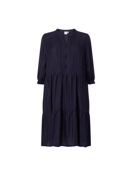 Niebieska sukienka rozkloszowana w paski Junarose