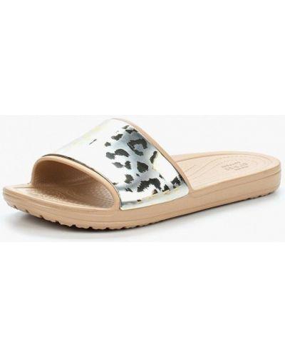 Сланцы серебряного цвета Crocs