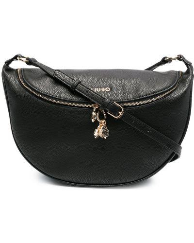 С ремешком кожаный черный сумка на плечо Liu Jo