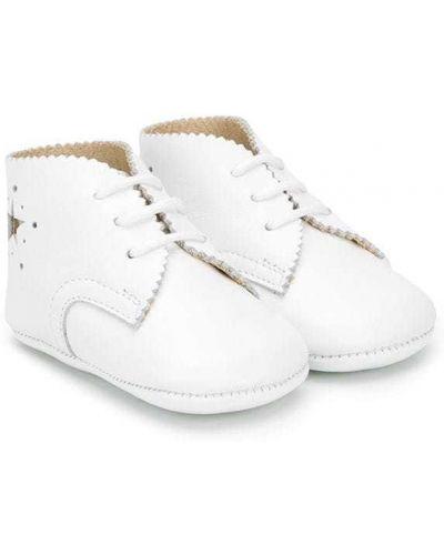 Белые кожаные пинетки Pépé Kids