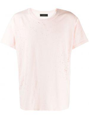 Koszula krótkie z krótkim rękawem prosto z logo Amiri