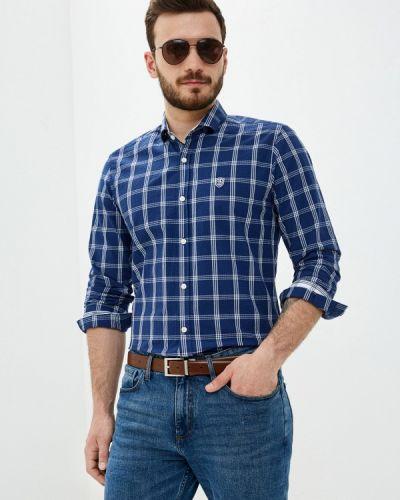 Синяя рубашка с длинными рукавами Jimmy Sanders