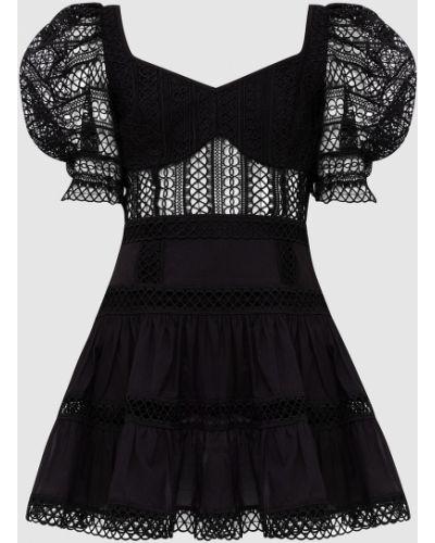 Черное платье мини Charo Ruiz
