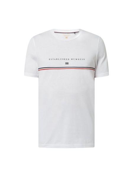 T-shirt bawełniana - biała Christian Berg Men