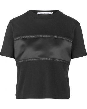 Футболка черная оверсайз Calvin Klein Jeans
