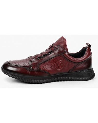 Красные кожаные кроссовки Brooman