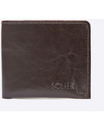 Коричневый кошелек кожаный Solier