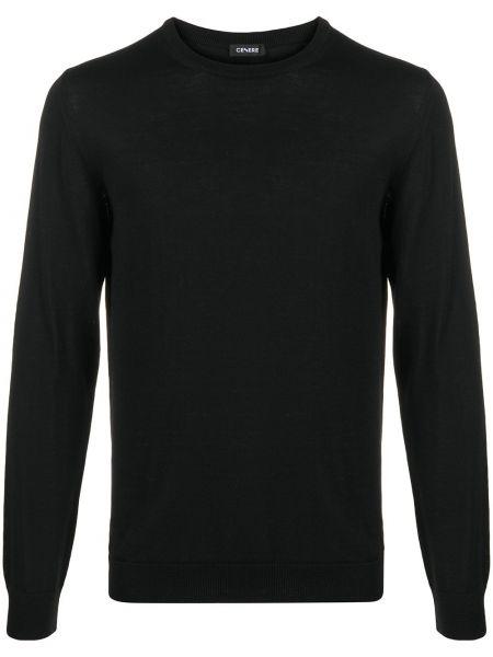 С рукавами вязаный шерстяной черный свитер Cenere Gb
