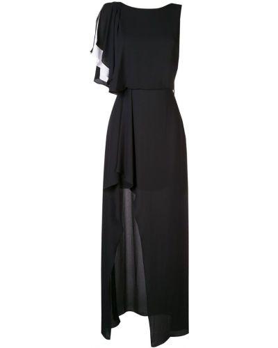 Платье с вырезом с оборками Halston Heritage