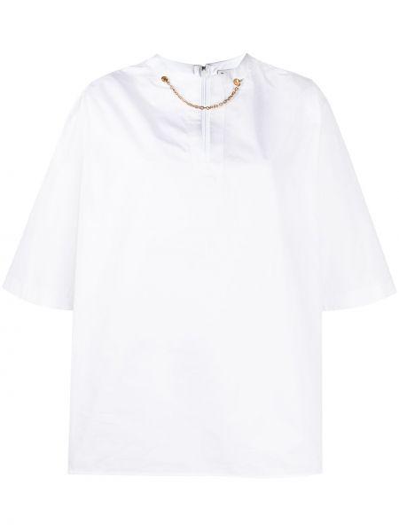 Koszula krótki rękaw bawełniana z haftem Givenchy