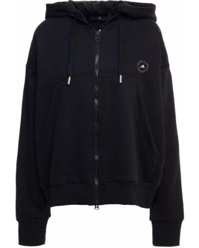 Пуховая черная куртка двусторонняя с накладными карманами Adidas By Stella Mccartney