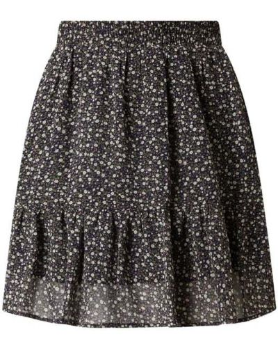 Spódnica mini z falbanami rozkloszowana w kwiaty Stella Nova