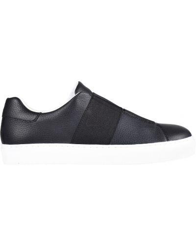 Черные кеды резиновые Armani Jeans