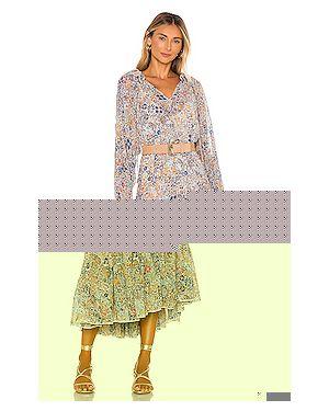 Платье макси шифоновое из вискозы Free People