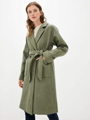 Зеленое пальто осеннее Izabella