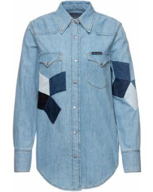 Niebieska koszula bawełniana Calvin Klein Jeans