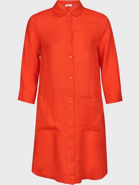 Платье на пуговицах - красное Maerz