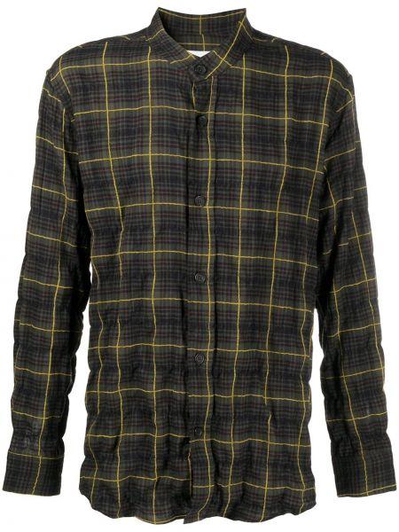 Koszula bawełniana z długimi rękawami khaki Goodfight