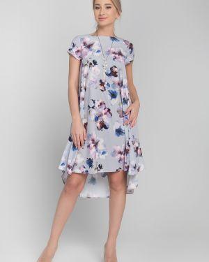 Вечернее платье летнее с цветочным принтом Sezoni