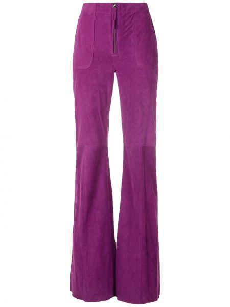 Кожаные брюки - фиолетовые Eva