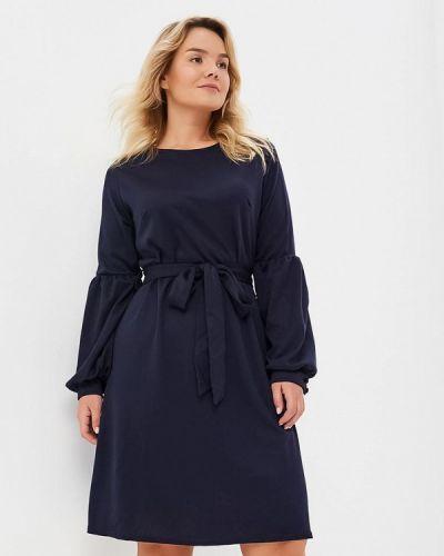 Повседневное платье осеннее синее Lost Ink Plus