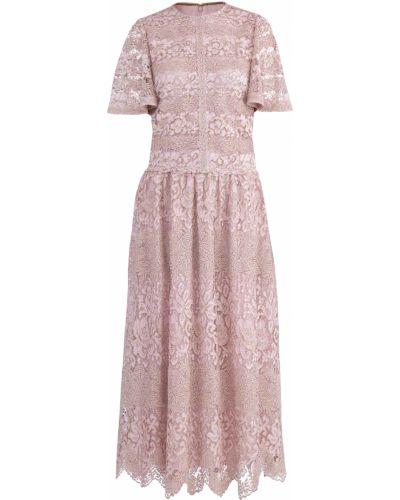 Платье миди прямое ажурное Valentino