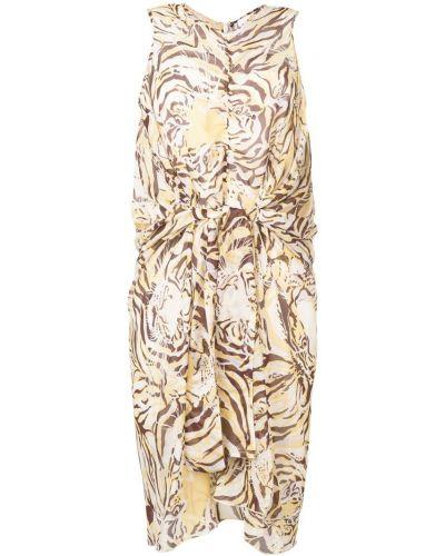 Платье с V-образным вырезом с принтом See By Chloé
