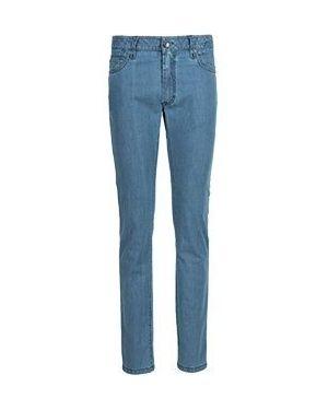 Хлопковые прямые джинсы с жемчугом Cortigiani