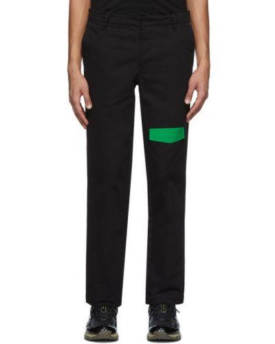 Czarne spodnie skorzane z paskiem Rochambeau