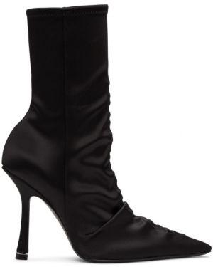 Ботинки на каблуке сапоги-чулки черные Alexander Wang
