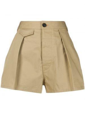Однобортные теплые короткие шорты Dsquared2
