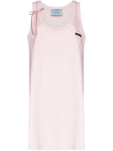 Платье розовое трапеция Prada