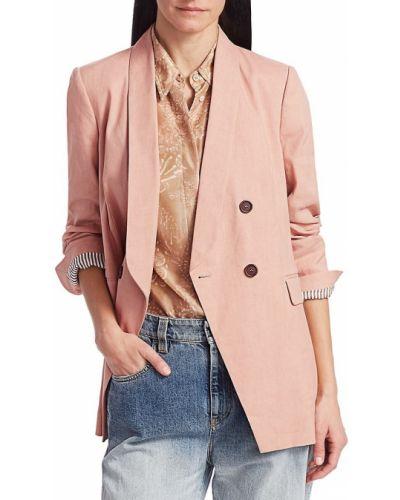 Длинная куртка - розовая Brunello Cucinelli