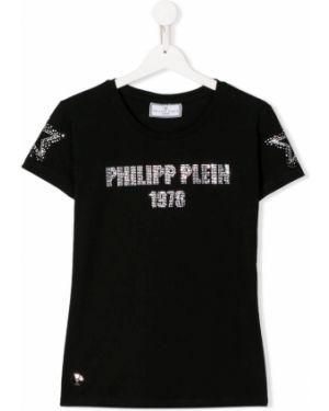 Рубашка черная на шею Philipp Plein Junior