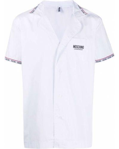Biała piżama krótki rękaw Moschino