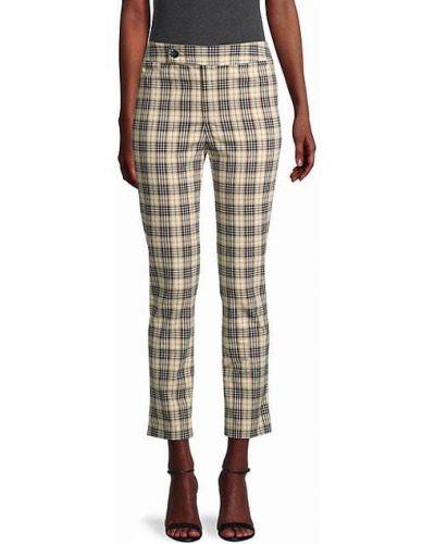 Spodnie bawełniane z printem w kratę Bailey 44
