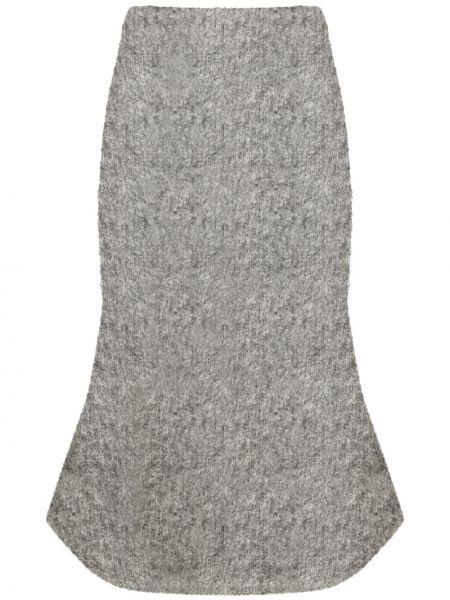Шерстяная серая юбка с поясом Christopher Kane