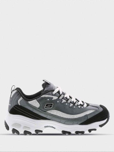 Повседневные кожаные кроссовки Skechers