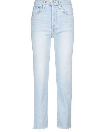 Niebieskie jeansy vintage bawełniane Re/done