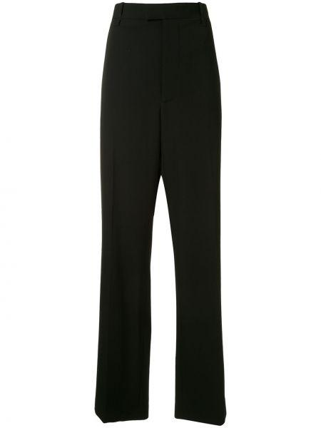 Szerokie spodnie z wysokim stanem czarne Bottega Veneta