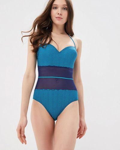 Синий слитный купальник Lora Grig