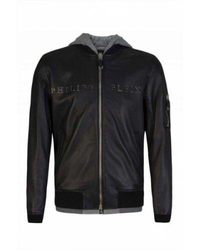 Czarna kurtka bawełniana Philipp Plein