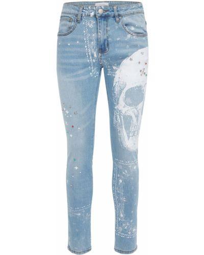 Niebieskie jeansy z printem Lifted Anchors