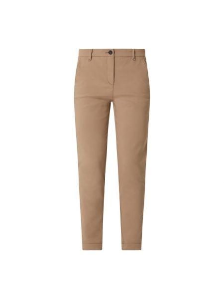Brązowe spodnie materiałowe Marc Cain