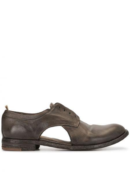 Кожаные оксфорды на каблуке Officine Creative