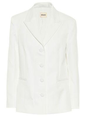 Однобортный белый пиджак Khaite